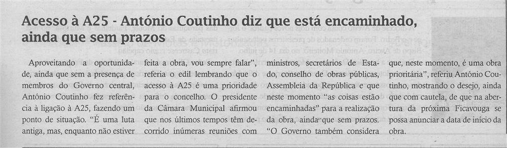 TV-ago.'19-p.4-Acesso à A25 : António Coutinho diz que está encaminhado, ainda que sem prazos.jpg