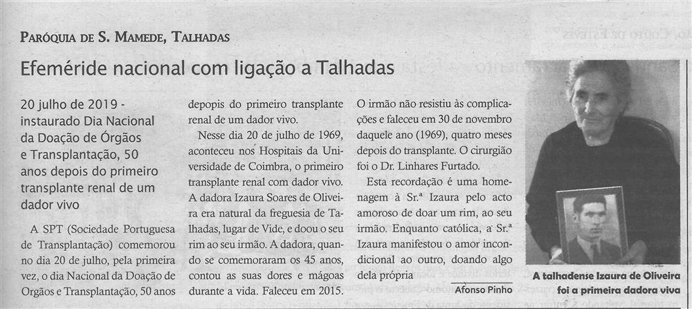 TV-ago.'19-p.13-Efeméride nacional com ligação a Talhadas : paróquias e freguesias : Paróquia de São Mamede, Talhadas.jpg