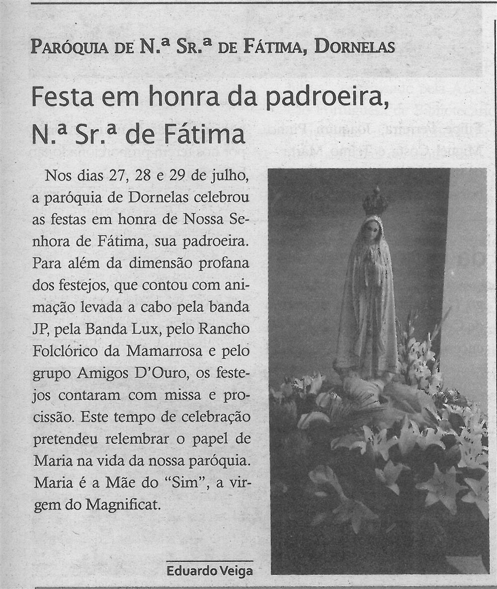TV-ago.'19-p.13-Festa em honra da padroeira, N.ª Sr.ª de Fátima : paróquias e freguesias : Paróquia de N.ª Sr.ª de Fátima, Dornelas.jpg