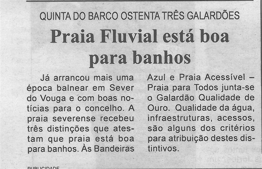 BV-2.ªjul.'19-p.6-Praia Fluvial está boa para banhos : Quinta do Barco ostenta três galardões.jpg