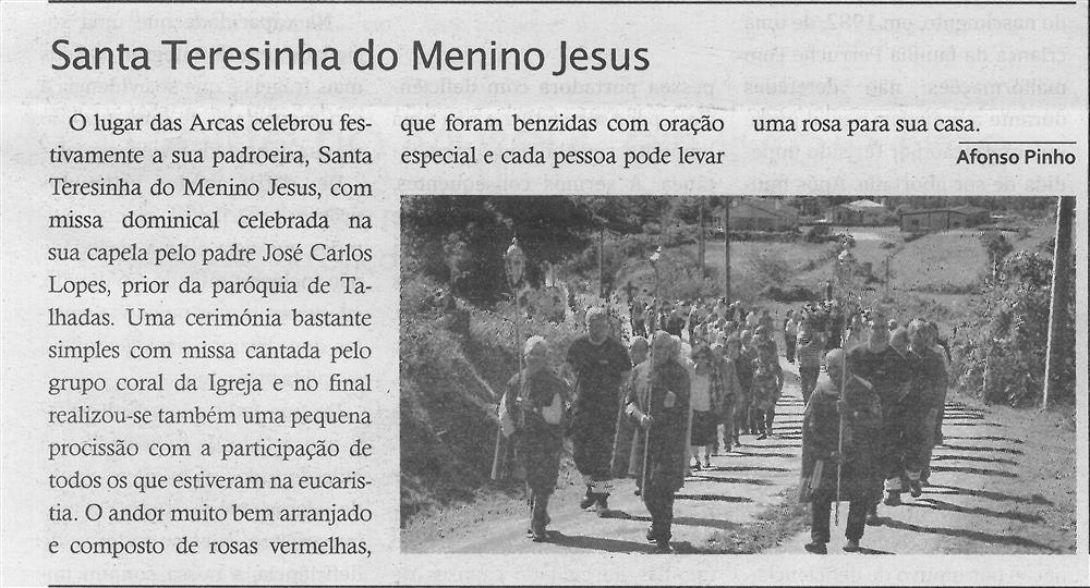 TV-nov.'19-p.15-Paróquias e freguesias : Paróquia de S. Mamede, Talhadas : Santa Teresinha do Menino Jesus.jpg