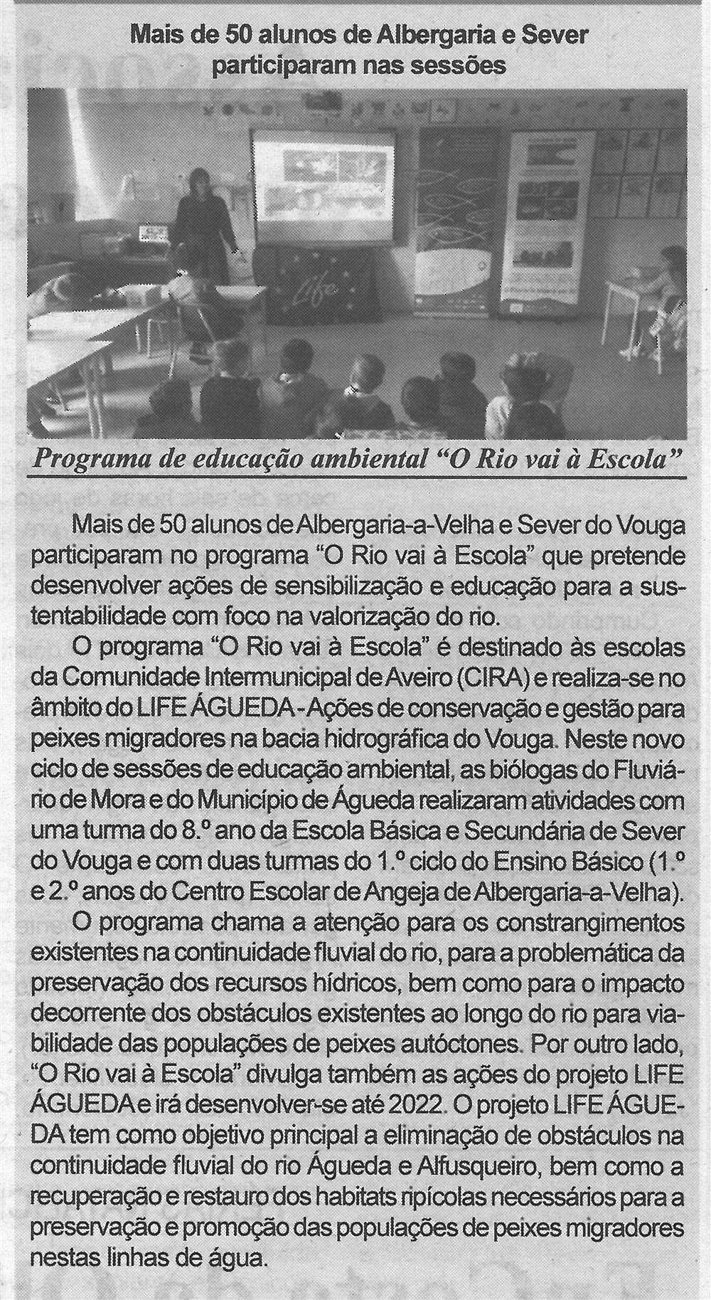 BV-2.ªjan.'20-p.7-Mais de 50 alunos de Albergaria e Sever participaram nas sessões : programa de educação ambiental 'O rio vai à escola'.jpg
