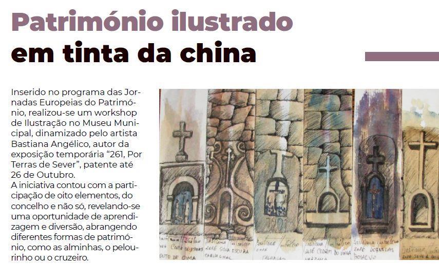 BoletimInfoSV-2.ºsem'19.-p.10-Património ilustrado em tinta da china.JPG