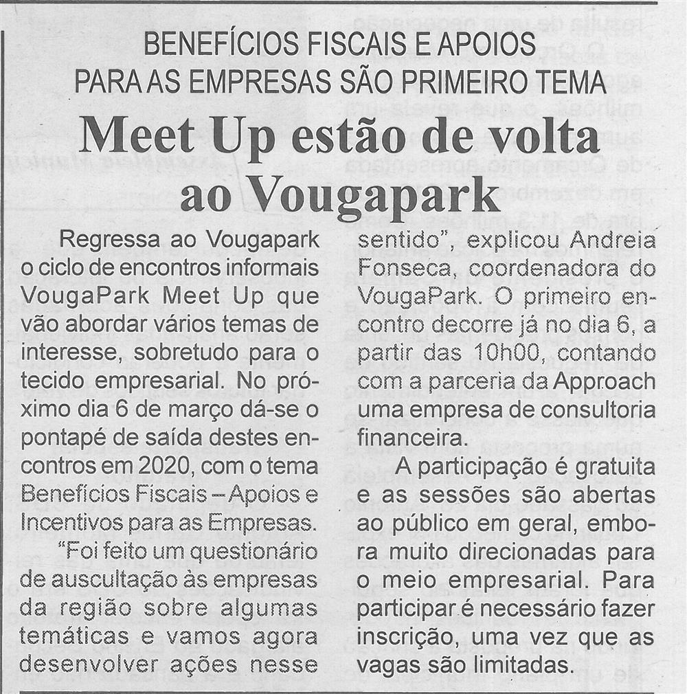 BV-1.ªmar.'20-p.4-Meet Up estão de volta ao VougaPark : benefícios fiscais e apoios para as empresas são primeiro tema.jpg