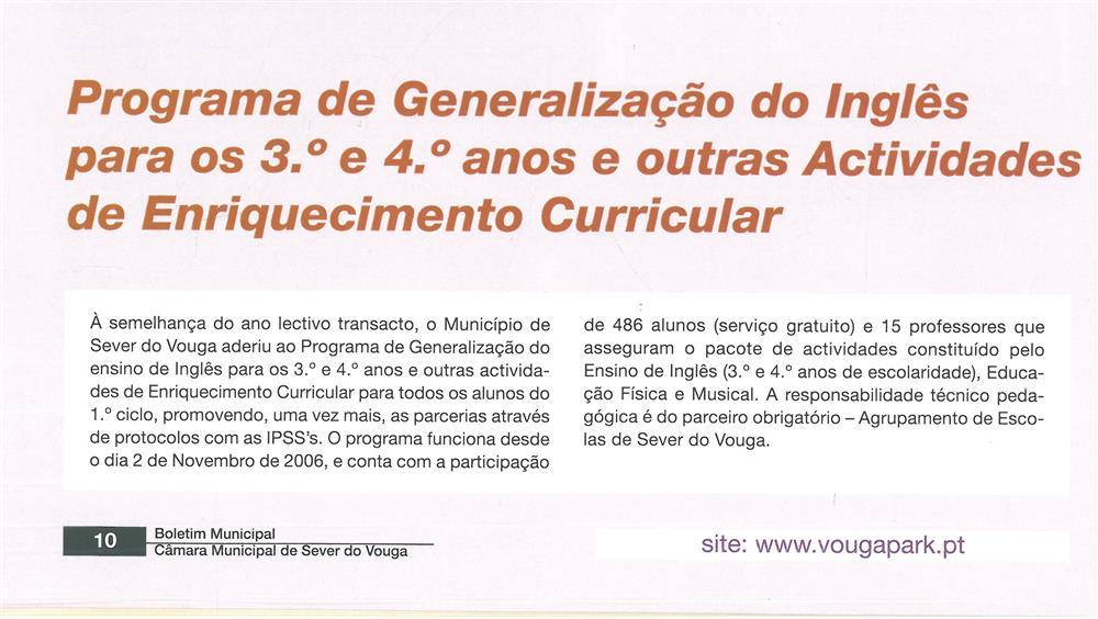BoletimMunicipal-n.º 21-mar.'07-p.10-Educação : Programa de Generalização do Inglês para os 3.º e 4.º anos e outras Atividades de Enriquecimento Curricular.jpg