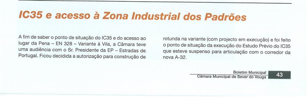 BoletimMunicipal-n.º 21-mar.'07-p.43-Desenvolvimento económico : IC35 e acesso à Zona Industrial dos Padrões.jpg