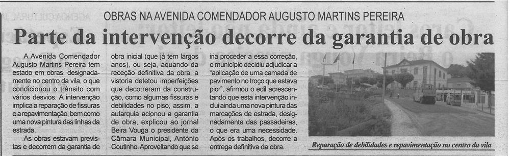 BV-2.ªjun.'20-p.4-Parte da intervenção decorre da garantia de obra : obras na Avenida Comendador Augusto Martins Pereira.jpg