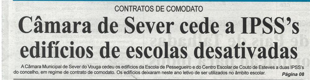 BV-23dez.'20-p.1-Câmara de Sever cede a IPSS's edifícios de escolas desativadas : contratos de comodato.jpg