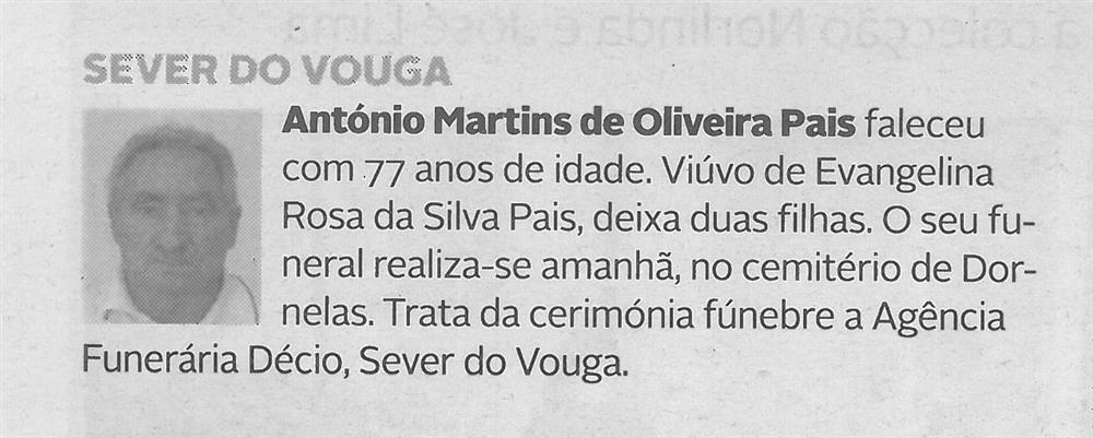 DA-02jan.'21-p.9-Sever do Vouga : António Martins de Oliveira Pais.JPG