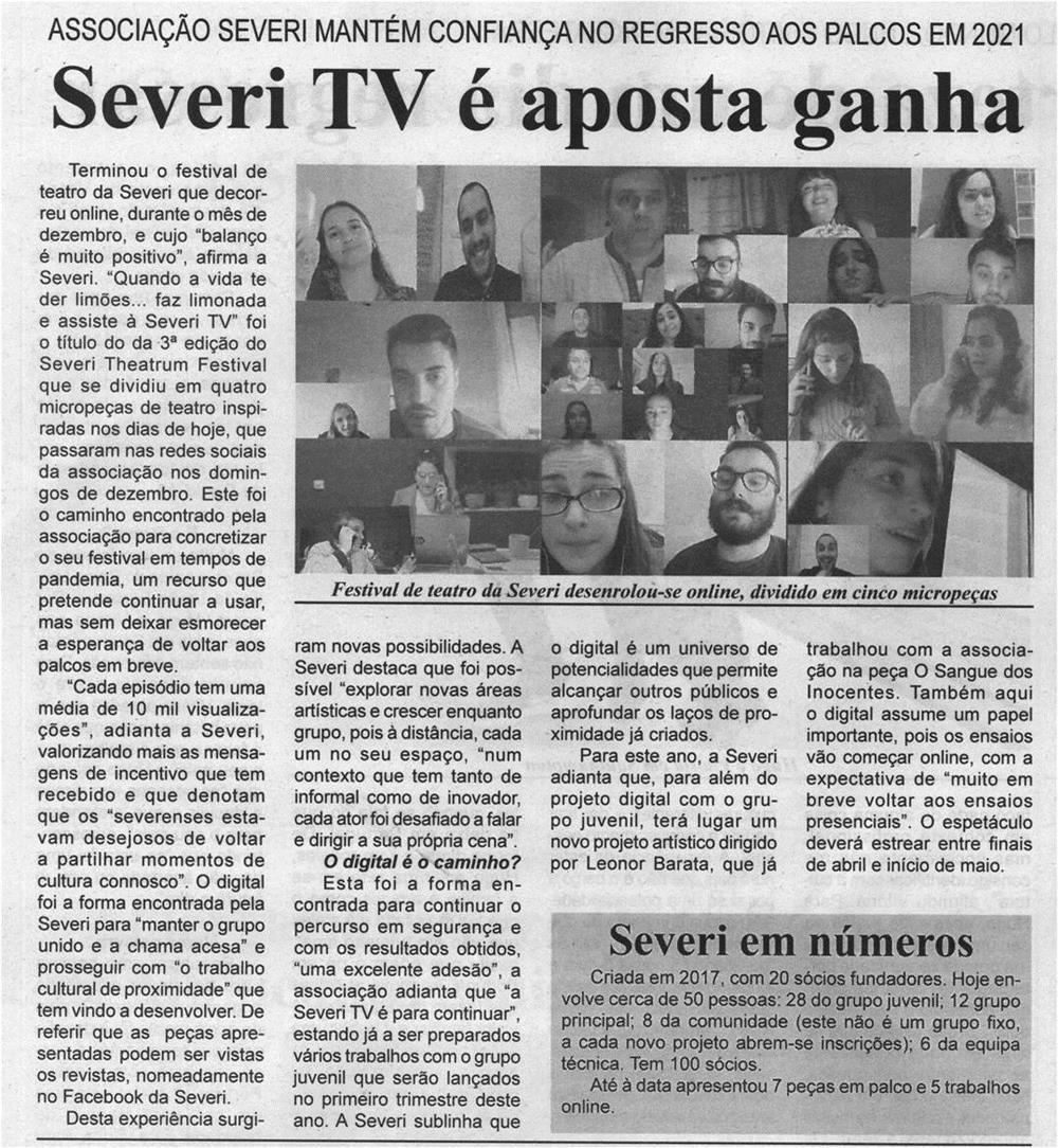 BV-2.ªjan.'21-p.6-Severi TV é aposta ganha : Associação Severi mantém confiança no regresso aos palcos em 2021.jpg