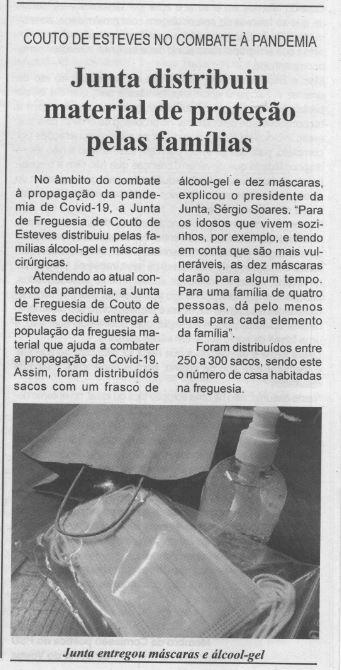 BV-1.ªfev.'21-p.6-Couto de Esteves no combate à pandemia : Junta distribuiu material de proteção pelas famílias.JPG