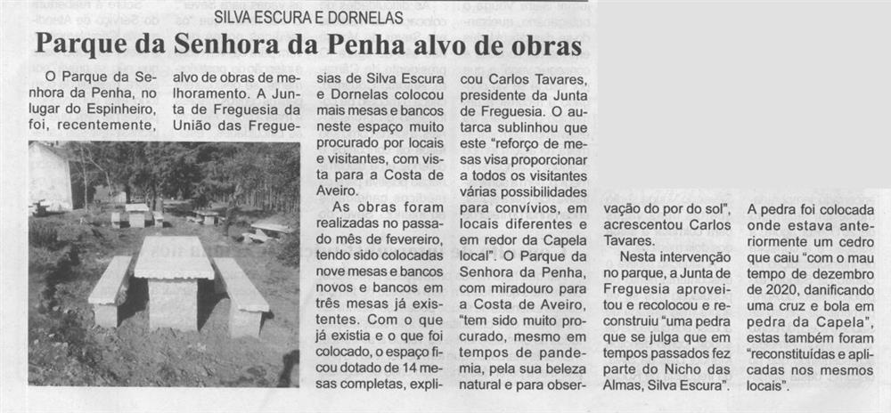 BV-2.ªmar.'21-p.6-Silva Escura e Dornelas : Parque da Senhora da Penha alvo de obras.JPG