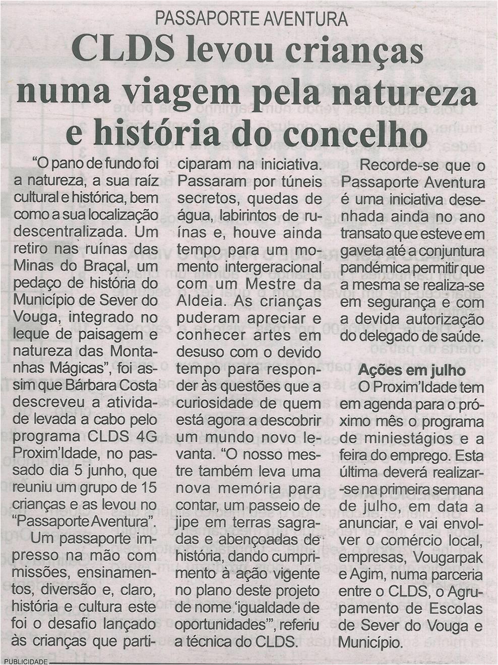 BV-2.ªjun.'21-p.20-CLDS levou crianças numa viagem pela natureza e história do concelho : Passaporte Aventura.jpg