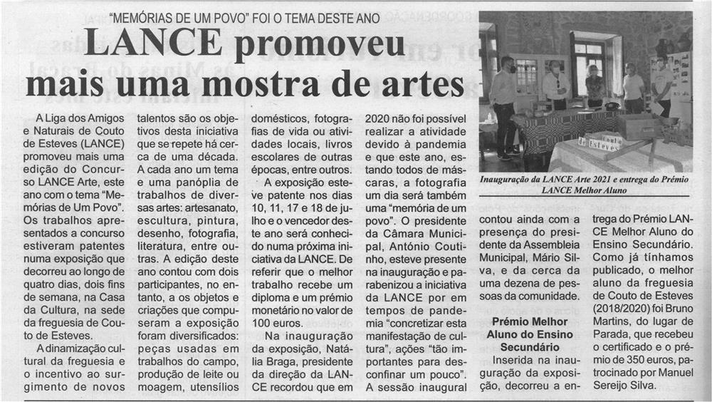 """BV-2.ªjul.'21-p.4-LANCE promoveu mais uma mostra de artes : """"Memórias de um Povo"""" foi o tema deste ano.jpg"""