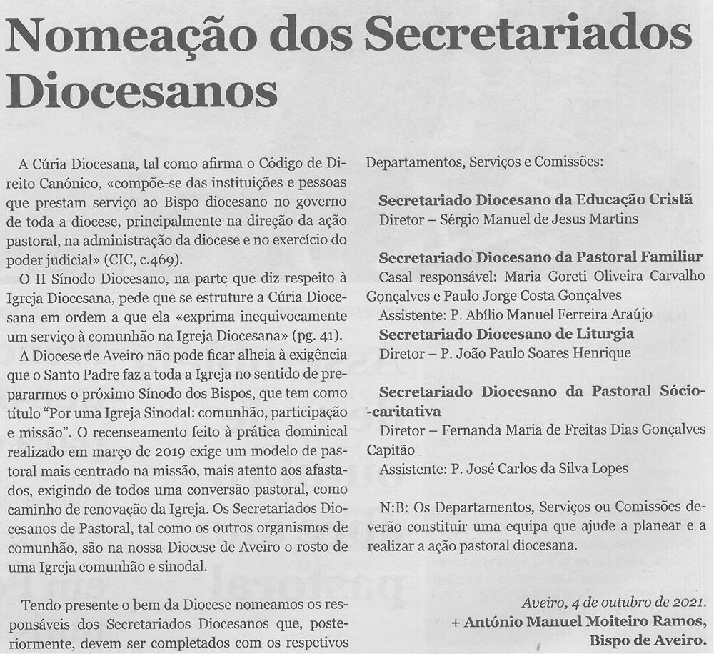 CV-Ano 91, n.º 4468 (06 out. '21), p. 2-Nomeação dos Secretariados Diocesanos.jpg