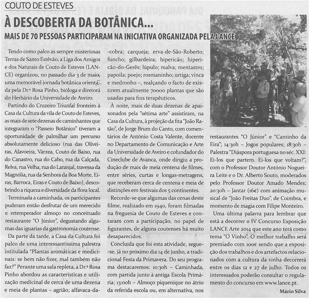 TV-jun14-p11-À descoberta da botânica - mais de 70 pessoas participaram na iniciativa organizada pela LANCE - JPG