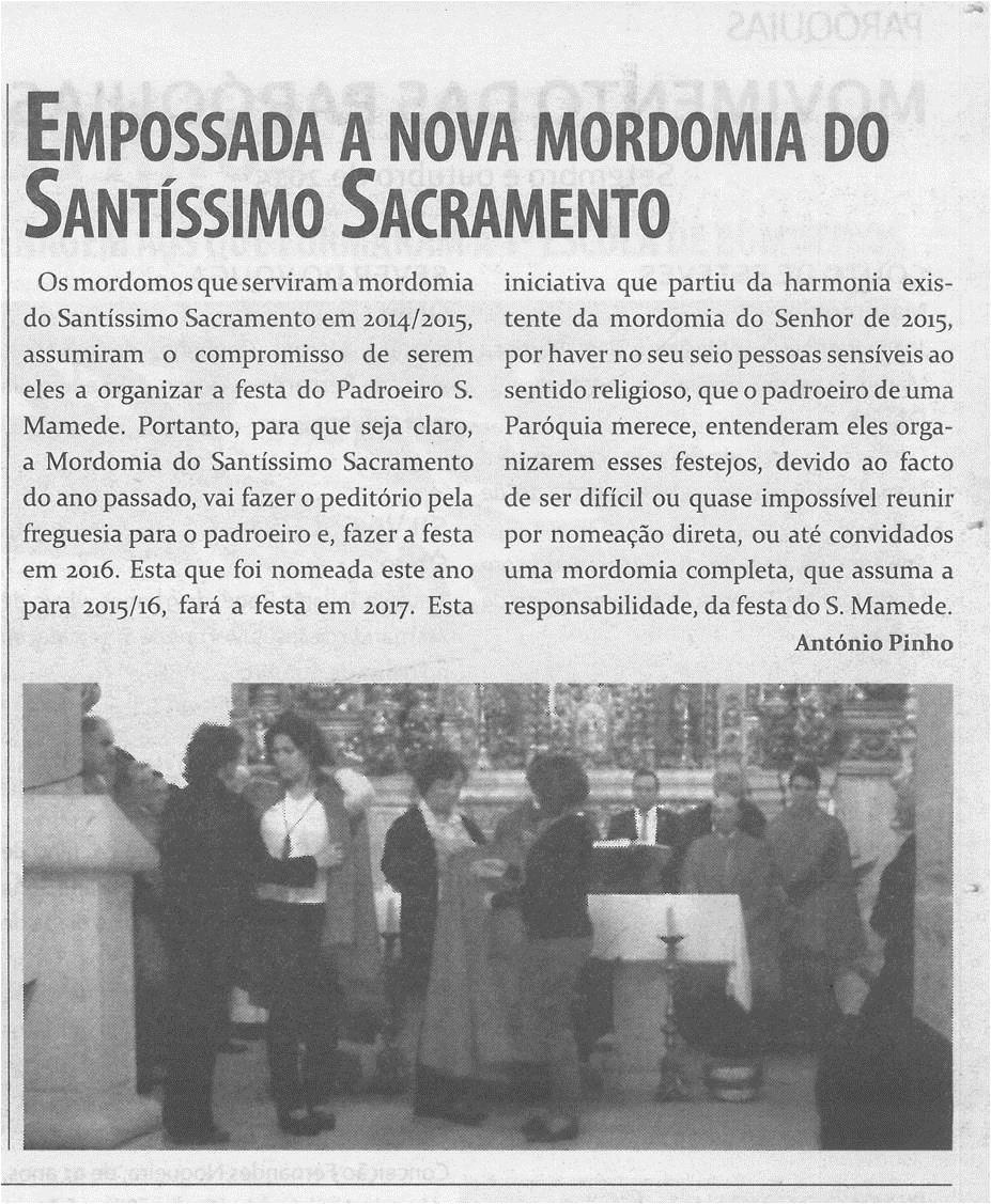 TV-nov.'15-p.11-Empossada a nova mordomia do Santíssimo Sacramento : Talhadas.jpg