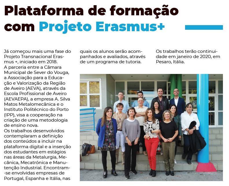 BoletimInfoSV-2.ºsem'19.-p.3-Plataforma de formação com Projeto Erasmus+.JPG
