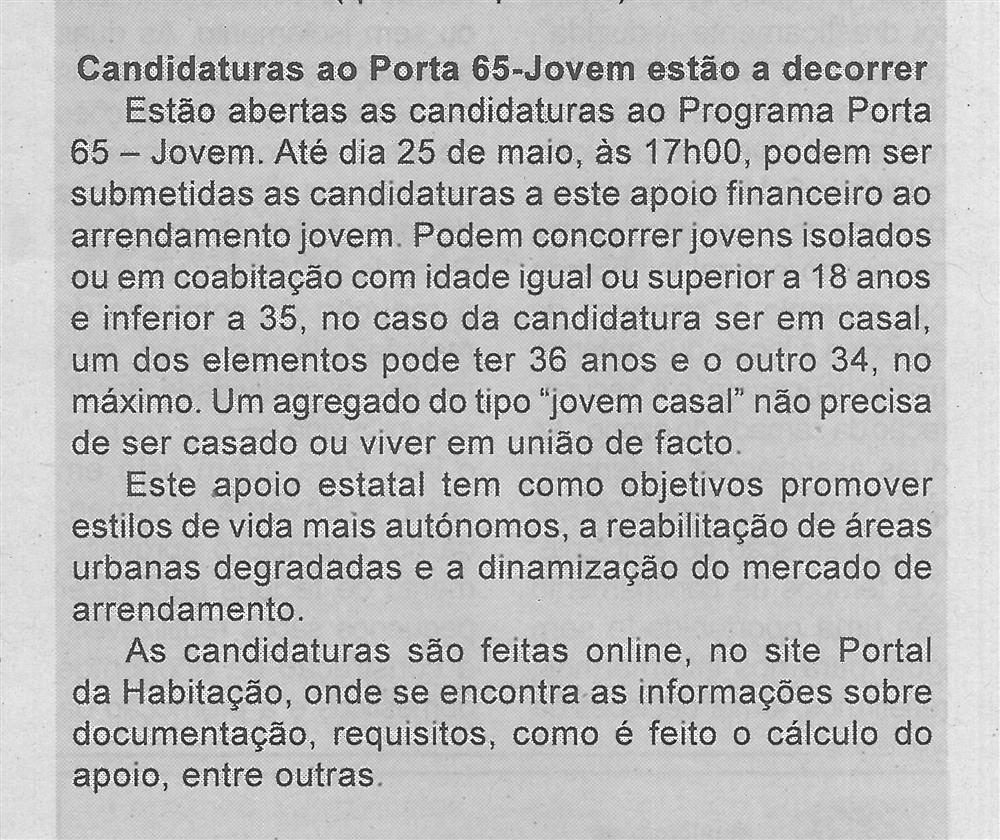 BV-1.ªmaio'20-p.5-Candidaturas ao Porta 65-Jovem estão a decorrer.jpg