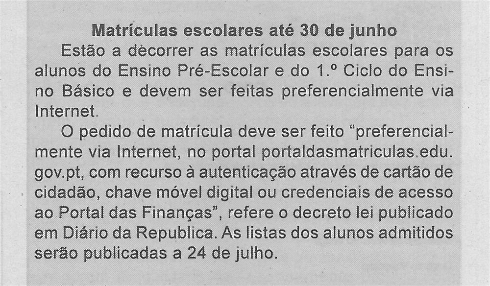 BV-1.ªmaio'20-p.5-Matrículas escolares até 30 de junho.jpg