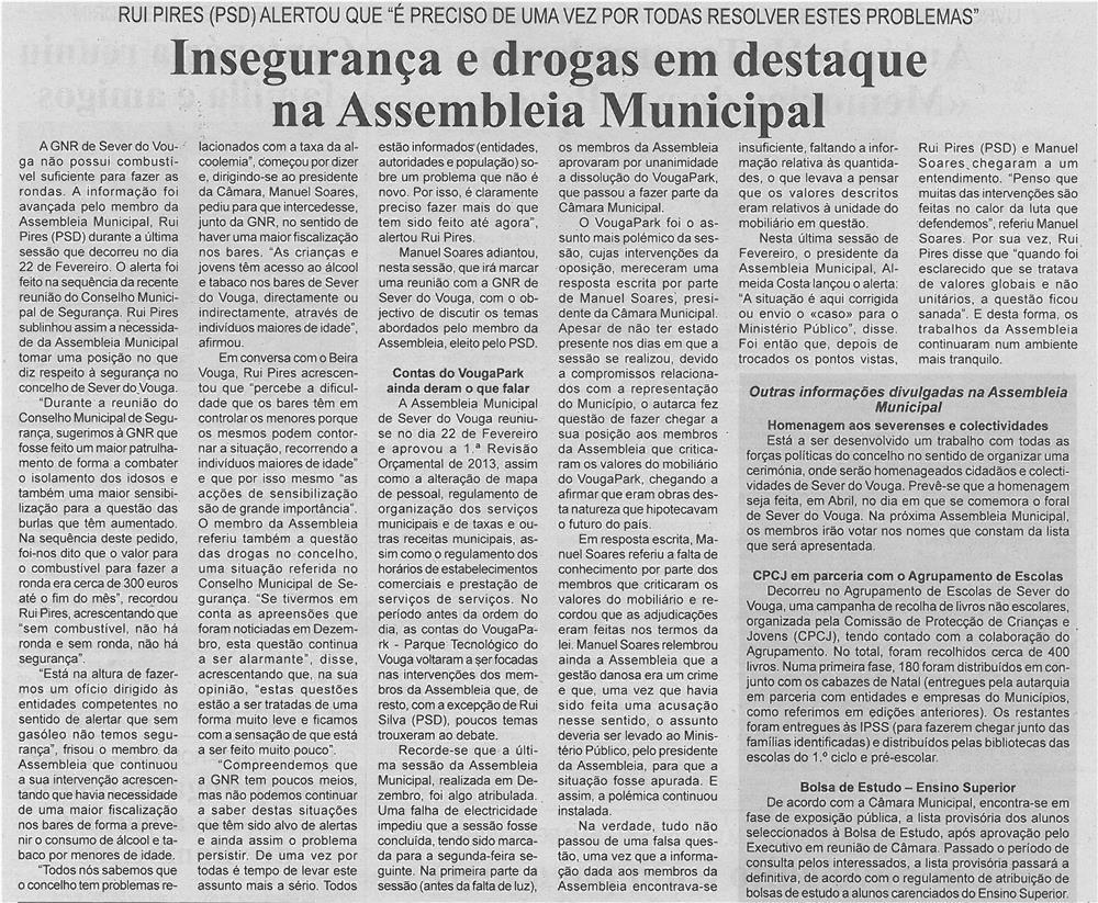 BV-1ªmar13-p6-Insegurança e drogas em destaque na Assembleia Municipal