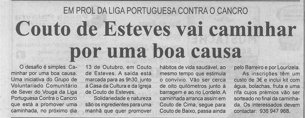 BV-1.ªout.'19-p.2-Couto de Esteves vai caminhar por uma boa causa : em prol da Liga Portuguesa Contra o Cancro.jpg