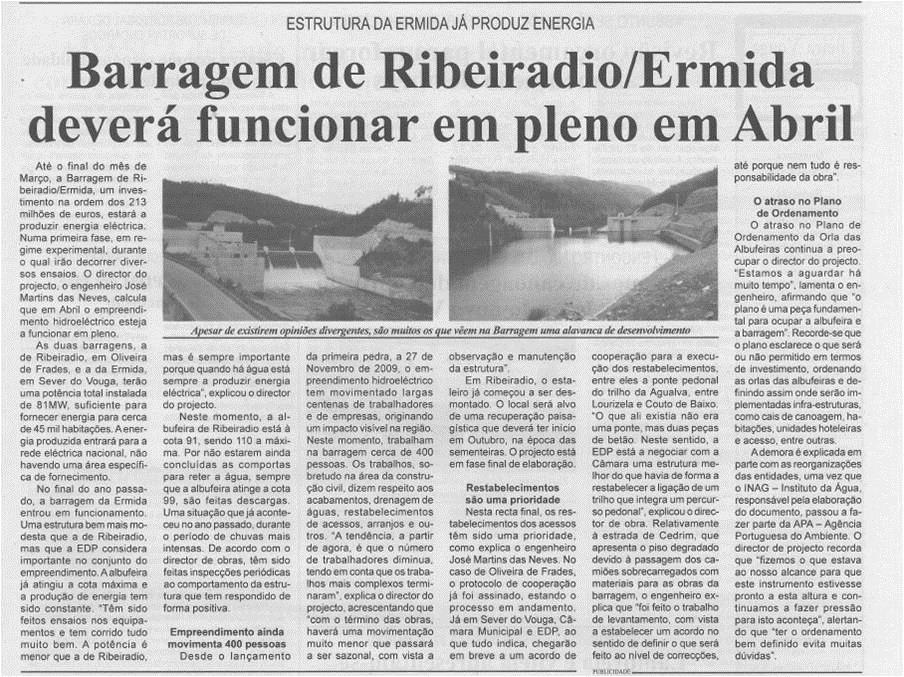 BV-2.ªfev.'15-p.3-Barragem de Ribeiradio-Ermida deverá funcionar em pleno em abril : estrutura da Ermida já produz energia.jpg