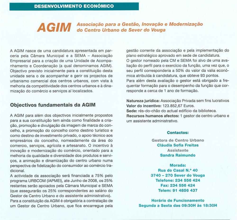 BoletimMunicipal-n.º 21-mar.'07-p.42-Desenvolvimento económico : AGIM : Associação para a Gestão, Inovação e Modernização do Centro Urbano de Sever do Vouga.jpg