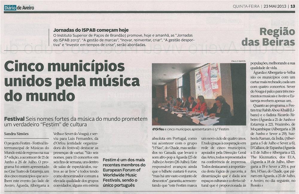 DA-23maio13-p13-Cinco minicípios unidos pela música do mundo