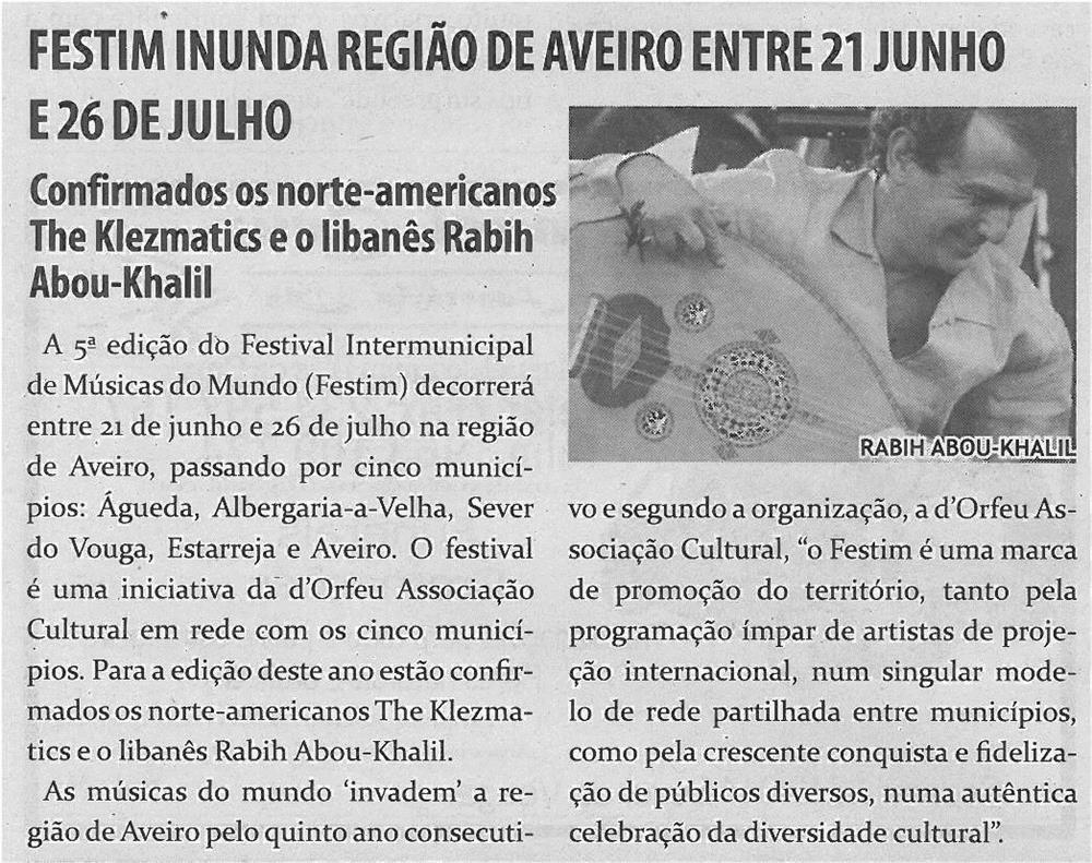 TV-maio13-p15-Festim inunda Região de Aveiro entre 21 junho e 26 de julho