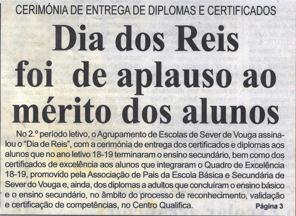 BV-2.ªjan.'20-p.1-Dia dos Reis foi de aplauso ao mérito dos alunos : cerimónia de entrega de diplomas e certificados.jpg