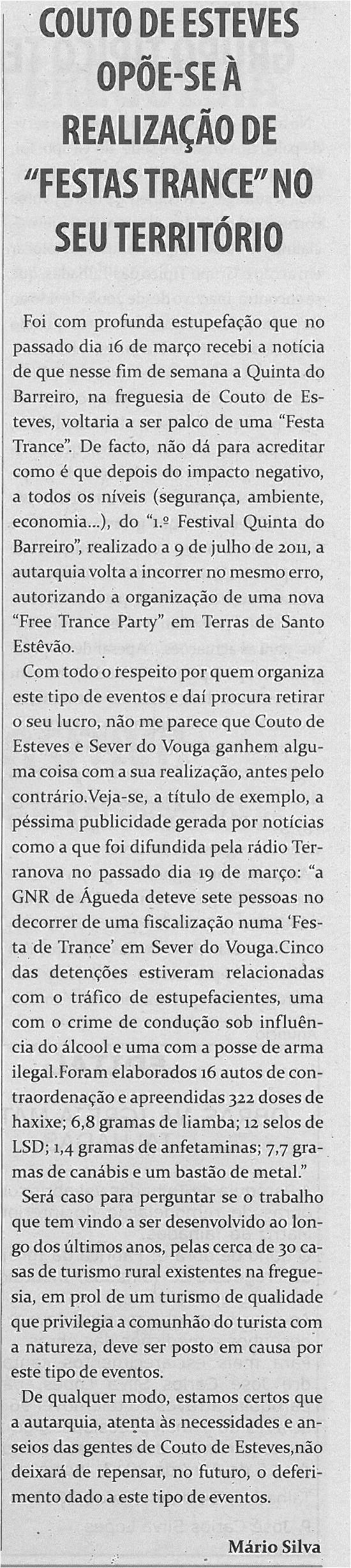 TV-abr13-p7-Couto de Esteves opõe-se à realização de Festas Trance no seu território