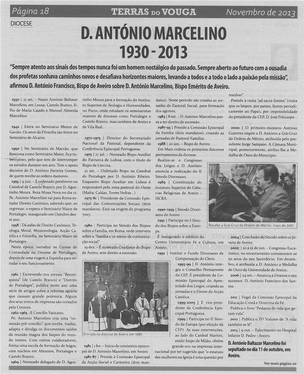 TV-nov13-p18-D. António Marcelino : 1930-2013