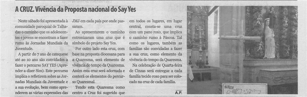 TV-mar.'20-p.12-Próquias : Talhadas : A Cruz : vivência da proposta nacional do Say Yes.jpg