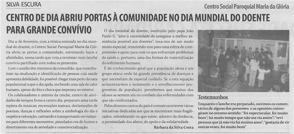 TV-mar13-p10-Centro de Dia abriu portas à comunidade no Dia Mundial do Doente para grande convívio