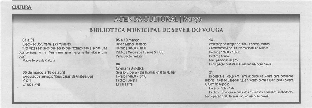 TV-mar.'20-p.19-Agenda Cultural [de] março : Biblioteca Municipal de Sever do Vouga.jpg
