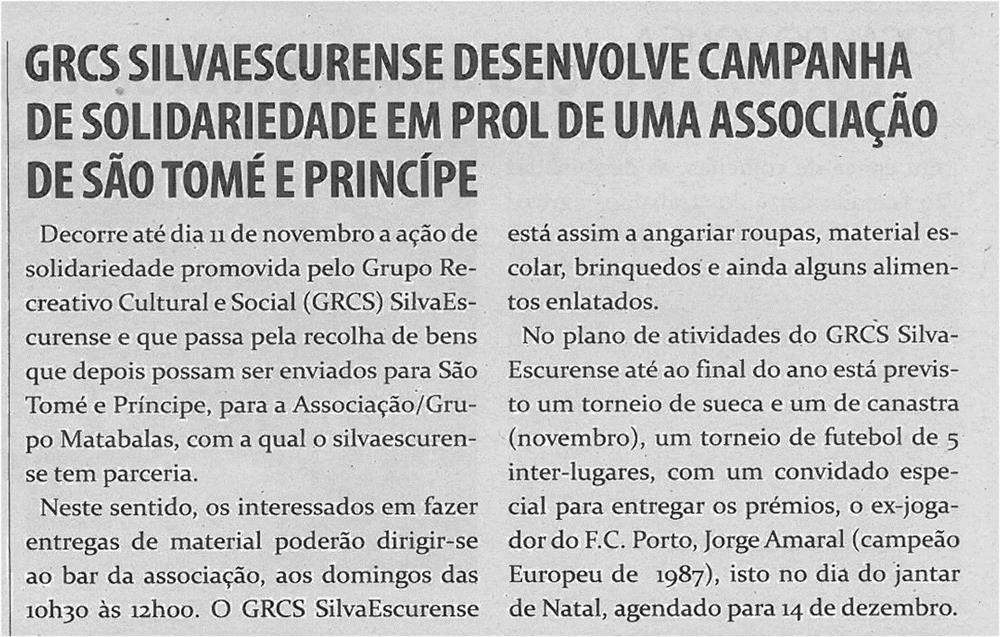 TV-nov12-p8-GRCS Silvaescurense desenvolve campanha de solidariedade em prol de uma associação de São Tomé e Príncipe.jpg