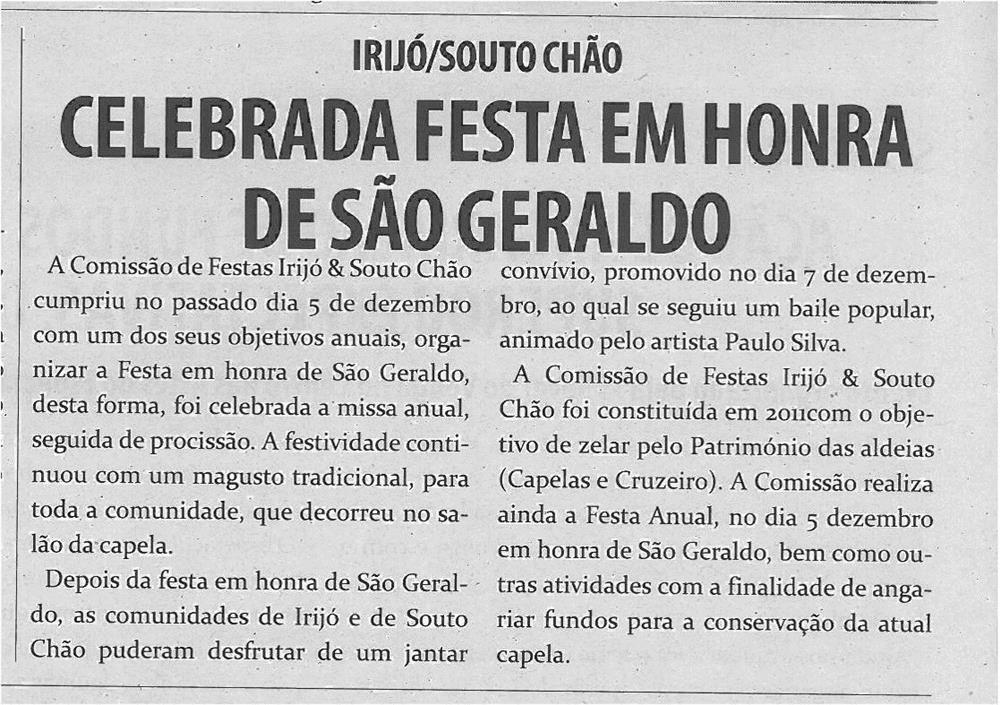TV-jan13-p4-Celebrada festa em honra de São Geraldo
