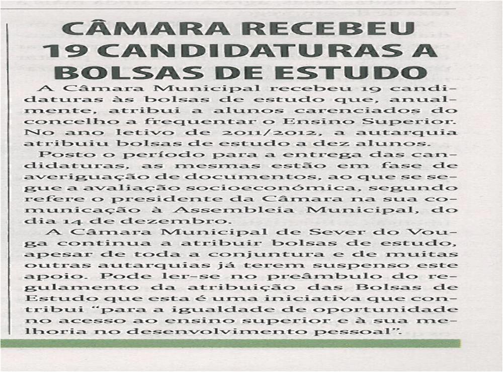 TV-jan13-p10-Câmara recebeu 19 candidaturas a Bolsas de Estudo