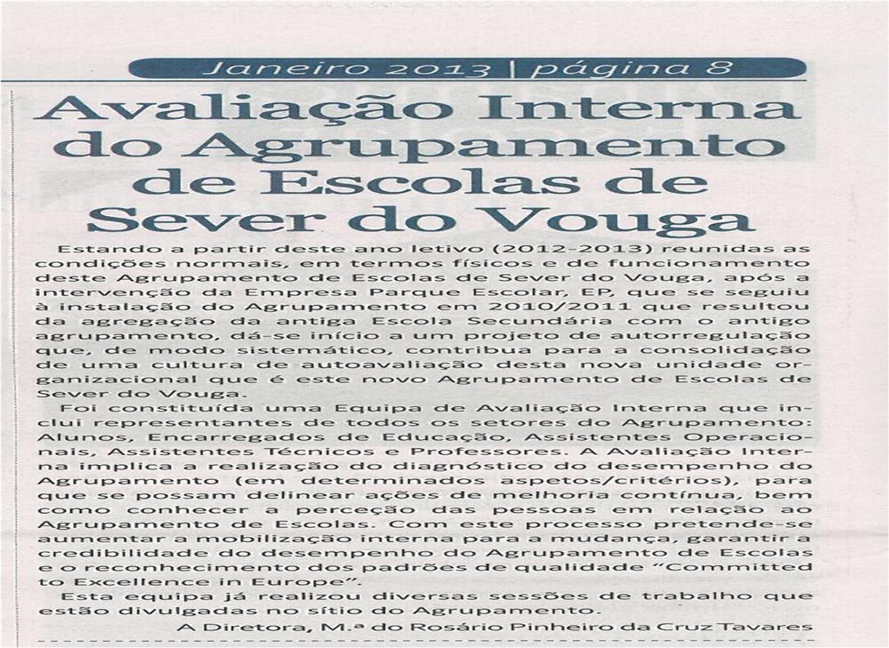 JE-jan13-p8-Avaliação interna do Agrupamento de Escolas de Sever do Vouga