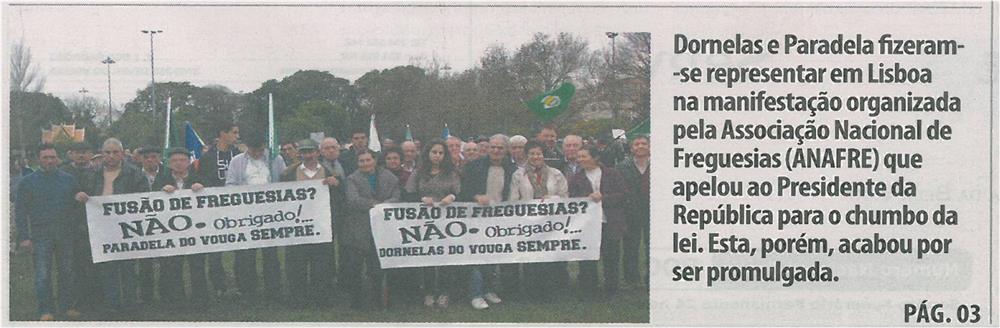 TV-fev13-p1-Dornelas e Paradela fizeram-se representar em Lisboa na manifestação organizada pela Associação Nacional de Freguesias ANAFRE