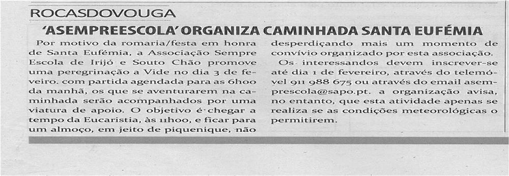TV-fev13-p9-A Sempre Escola organiza caminhada Santa Eufémia