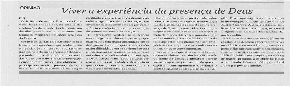 TV-fev13-p12-Viver a experiência da presença de Deus