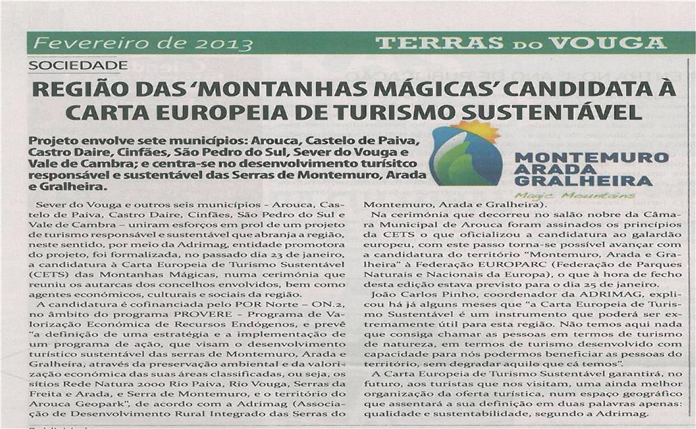 TV-fev13-p19-Região das Montanhas Mágicas candidata à Carta Europeia de Turismo Sustentável