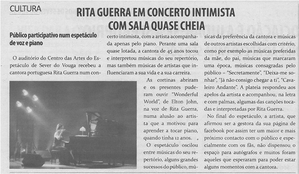 TV-mar13-p17-Rita Guerra em concerto intimista com sala quase cheia