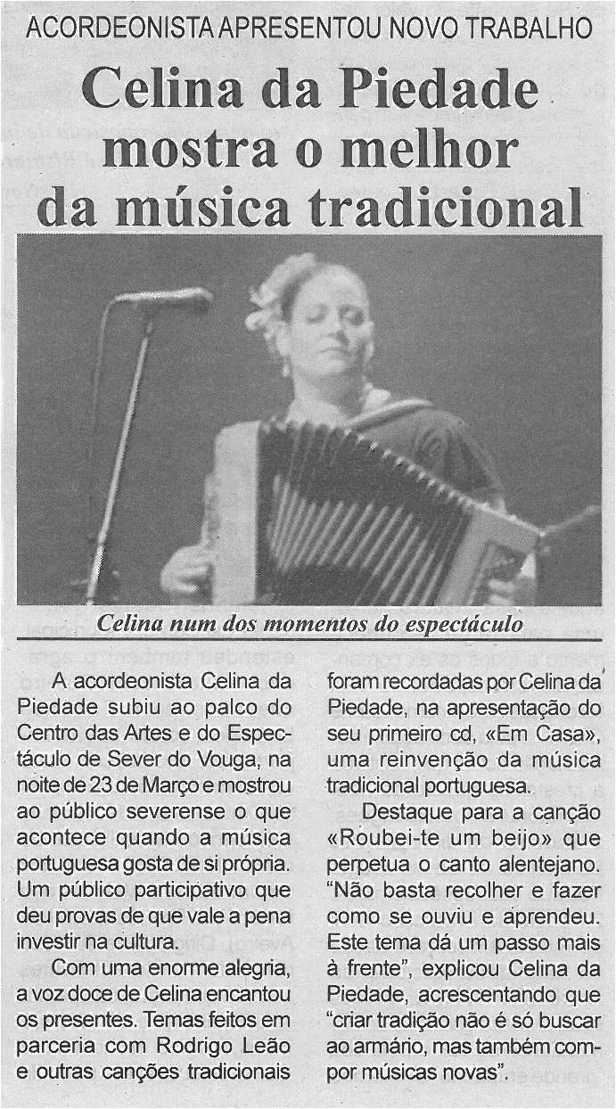 BV-1ªabr13-p4-Celina da Piedade mostra o melhor da música tradicional