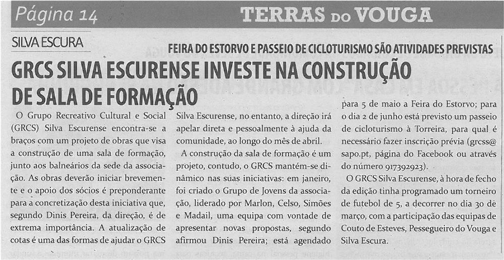 TV-abr13-p14-GRCS Silva Escurense investe na construção de sala de formação