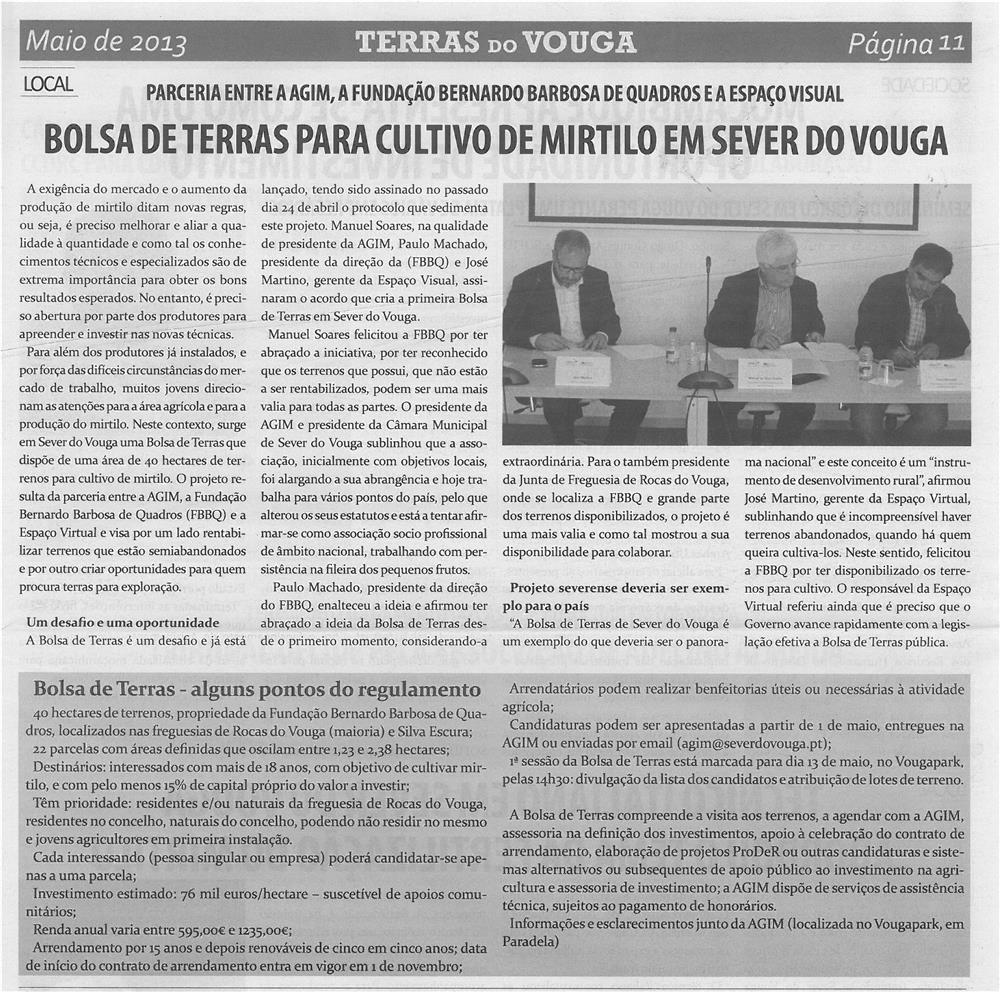 TV-maio13-p11-Bolsa de Terras para cultivo de mirtilo em Sever do Vouga