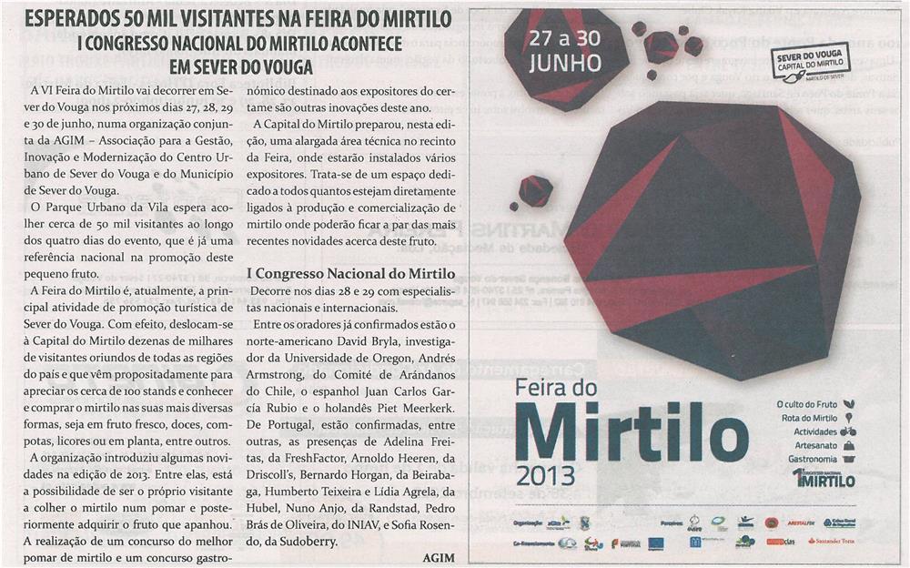TV-jun13-p20-Esperados 50 mil visitantes na Feira do Mirtilo