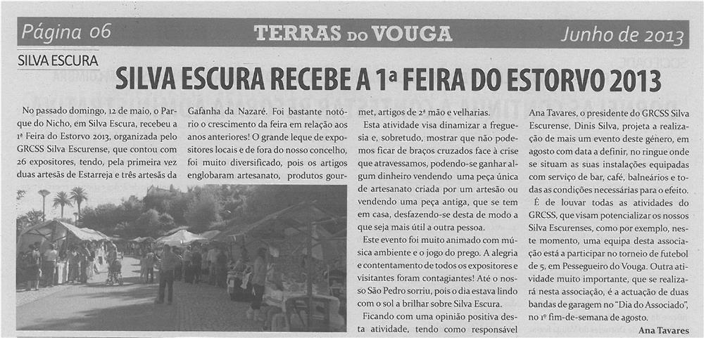 TV-jun13-p6-Silva Escura recebe a 1.ª Feira do Estorvo 2013